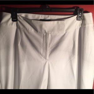 Talbots white slim fit pant
